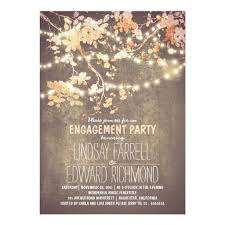 fancy invitations lights and fancy engagement party invitation card