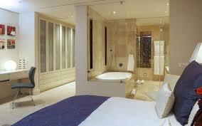 Bedroom Bathroom Master Bedroom With Open Bathroom Design Decorin