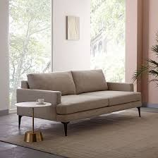 Extra Deep Seat Sofa Andes Sofa Stone Twill Westelm Chairs Pinterest Living
