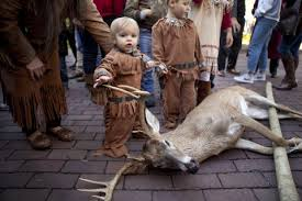 a thanksgiving ritual two va tribes present deer to governor as