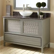 gray bathroom vanity with vessel sink bathroom vanities wood