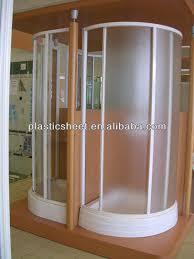 ps patterned sheets for bathroom plastic glass shower folding door