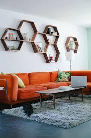 awesome diy shelves for living room wooden leg dark blue sofa
