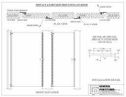 Toilet Partition Hardware Aluminum Offset Privacy Strip Pv1000 General Partitions Toilet
