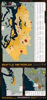 seattle map by district preview district map for the german seattle box set shadowrun