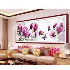 fashion diy 5d diamond embroidery butterflies play magnolia round