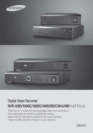 samsung dvr svr 945 user guide manualsonline com