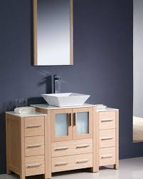 Bathroom Vanity With Side Cabinet Fresca Torino 48 Light Oak Modern Bathroom Vanity W 2 Side