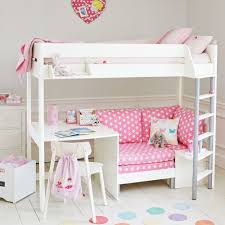 High Sleeper Beds With Sofa Merlin High Sleeper White With Pink Sofa Bed Beds