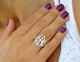 monogramed rings monogram rings sparkles and shoes