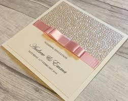 wedding invitations embossed embossed invitations etsy