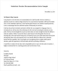 teaching position recommendation letter sample reference letters
