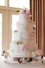 classic wedding cake with pink and green icing flowers elizabeth