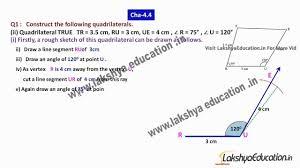 cbse ncert solution for class 8 maths practical geometry u2013 exe
