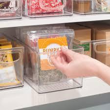 kitchen food storage pantry cabinet mdesign x plastic kitchen pantry cabinet refrigerator freezer food storage organizing bin basket with handles organizer for fruit