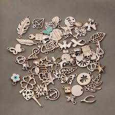 charms bracelet online images 36pcs lot mixed rose gold color metal floating charms handmade diy jpg