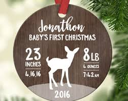 personalized christmas ornaments baby christmas ornaments etsy