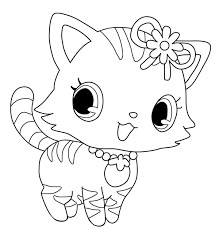 small kitten coloring pages alltoys
