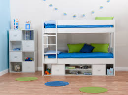 Solid Wood Bunk Beds With Storage Marvelous White Wooden Bunk Bed With Storage Underneath Plus Three