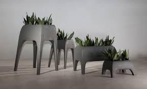 concrete planters garden cute picture of rectangular wheel modern concrete planters