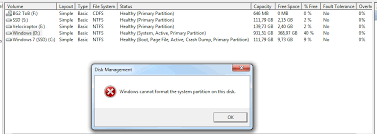 format hard disk bootmgr missing two os s windows cannot format the system partition on this disk