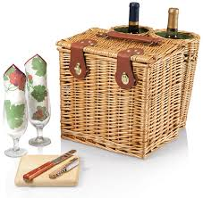 wine and cheese baskets picnic time vino picnic basket with wine and cheese