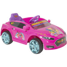 pink convertible cars trolls 6v speed electric battery powered coupe ride on walmart com