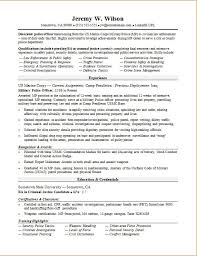 Police Officer Resume With No Experience Police Resume Sample Law Enforcement Instructor Resume Sample