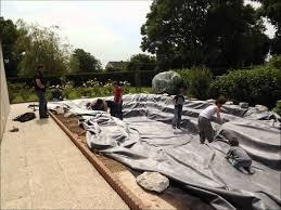 Construire Jardin D Hiver Construction Bassin De Jardin Avec Cascade Youtube