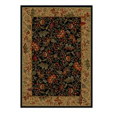 shaw accent rugs shop shaw living 23 x 47 ebony muscadine accent rug at lowes com