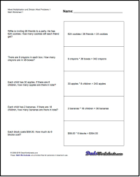 word problems worksheet mixed multiplication worksheet and division worksheet mixed multiplication and division word problems
