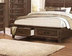 King Storage Platform Bed Ives Collection Antique Mink California King Storage Platform Bed