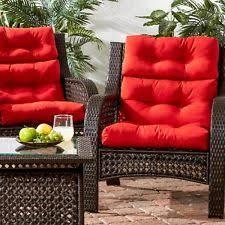 Red Patio Chair Cushions Ikea 2 Naston Seat Back Chair Cushion Indoor Outdoor Patio Pad