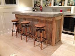 Barn Door Decor by Reclaimed Wood Bar Top Made From 500lb Slab Of Concrete Http