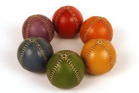 you receive a set of 6 juggling balls 1 red ball 1 orange ball
