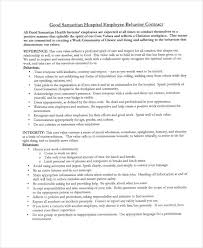 6 behavior contract templates free word pdf format download