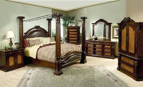 black king bed frame four post bed canopy painted green poster