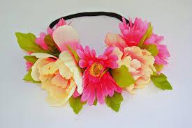 flower headbands diy with tutorial diy flower headband crown