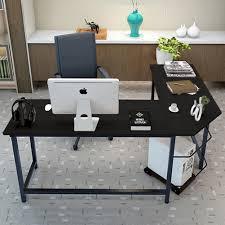 l shaped desk home office tribesigns modern l shaped desk corner computer desk pc latop