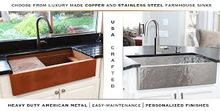 Hammered Copper Apron Front Sink by Copper And Stainless Steel Farmhouse Sinks Havens Metal