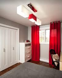 rideau pour chambre ado des rideaux rouges pour une touche de punch décor réalisé par