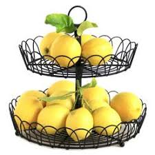 fruit basket stand home essentials wire tier fruit basket stand