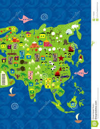 Asia World Map by Cartoon Map Of Asia And Oceania In Vector Stock Photo Image