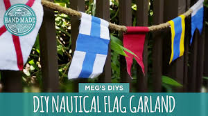 nautical flag diy nautical flag garland hgtv handmade youtube