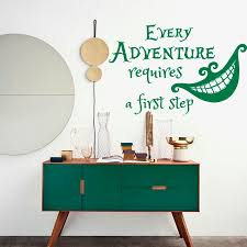 alice in wonderland wall decal quote room diy home decor art mural girls room decor