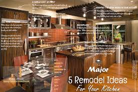 kitchen and bath remodeling ideas major 5 remodel ideas for your kitchen visual ly