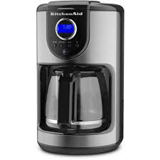 Black Kitchenaid Mixer by Kitchenaid 12 Cup Programmable Coffee Maker Kcm111ob The Home Depot