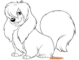 87 lady tramp coloring pages free coloring