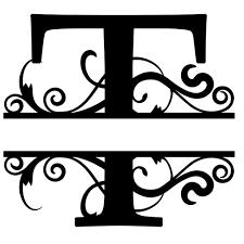 monogram letter t monogram letter die cut vinyl decal pv1320