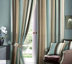 blue striped curtains bedroom beautiful blue and brown curtains